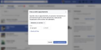 Facebook Messenger Crea Appuntamento
