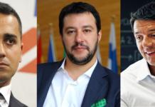 Di Maio, Salvini e Renzi fonte foto: collage da biografieonline.it