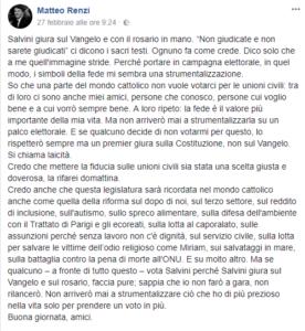 Uno dei (tanti) post lunghi di Matteo Renzi